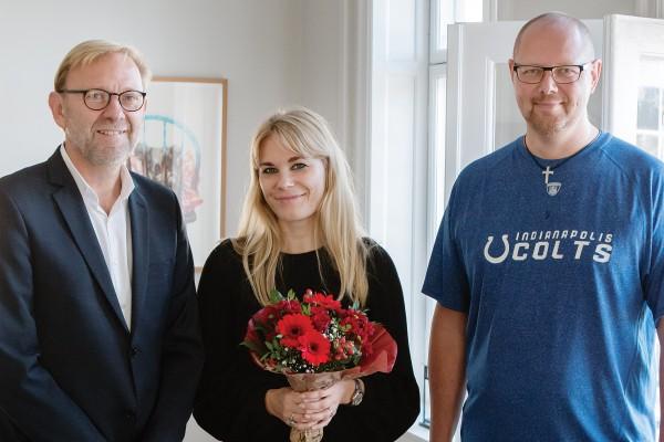 Pressefoto. Buketten til Anne Sofie Kragh og Michael Dyrby. Foto Henrik Lundahl Revshøi
